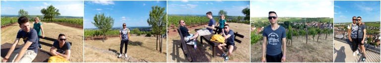 The hills are alive in Nierstein - hiking with friends on the vineyard