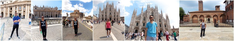 From St Peter's Basilica in Vatican City to the Duomo and Sant Ambrogio Basilica in Milan