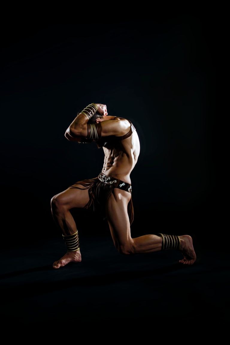 Casey Swales as Spartacus, photographed by Claire Gunn